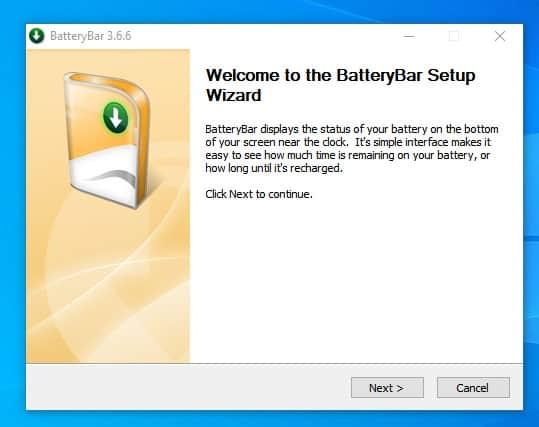 برنامج BatteryBar 1
