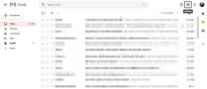 تفعيل الوضع الليلي في موقع Gmail 1