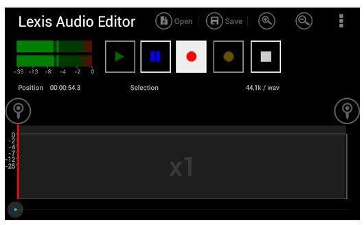 تطبيق Lexis Audio Editor تطبيقات إزالة الصوت من الفيديو