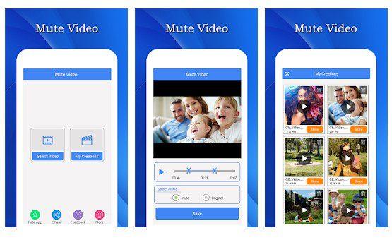 تطبيق Mute Video, Silent Video