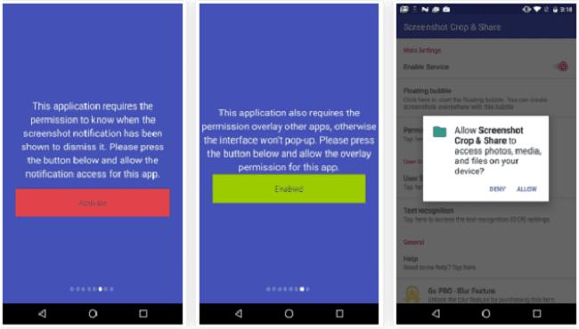 تطبيق Screenshot Crop & Share