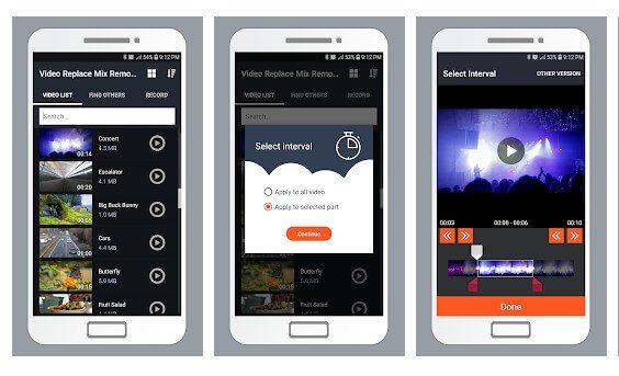 تطبيق Video Replace Mix Remove Audio