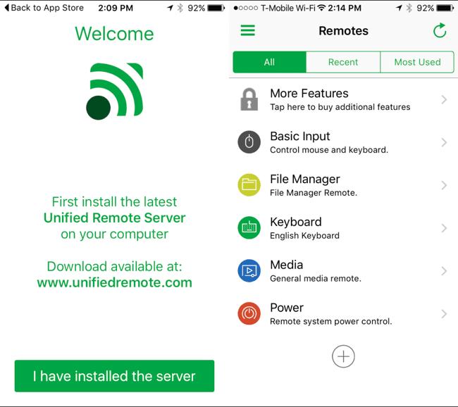 تطبيق Unified Remote 1