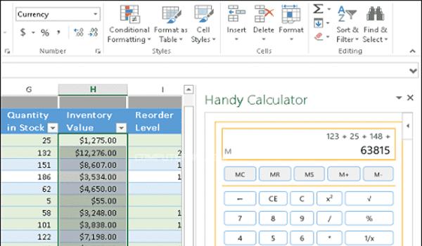 إضافة Handy Calculator
