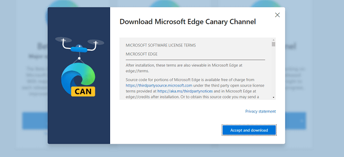 تحميل متصفح مايكروسوفت إيدج كناري