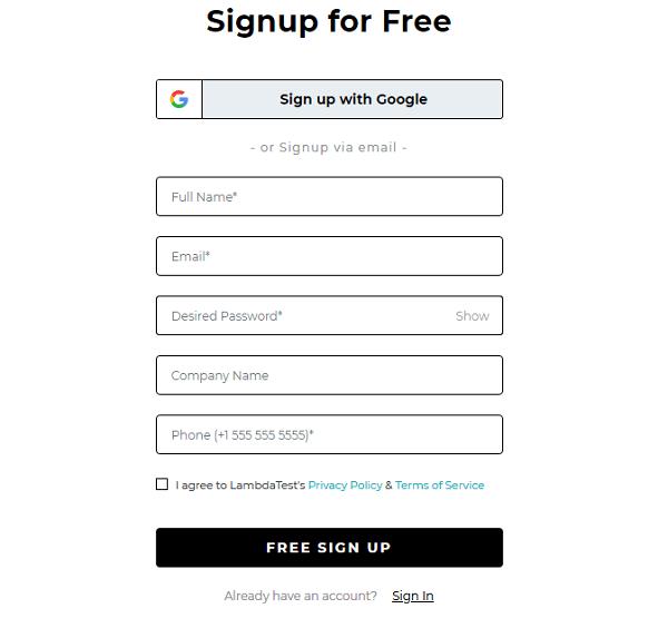 التسجيل في الموقع
