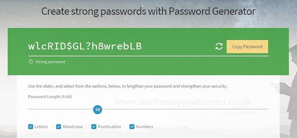 موقع Norton Online Password Generator