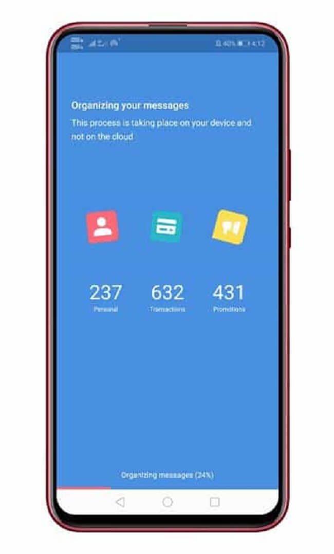 ميزة فلترة رسائل SMS في هواتف الأندرويد 1