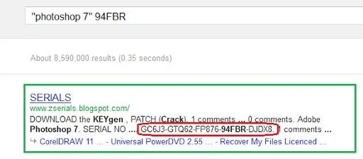 استخدام خدعة البحث في محرك البحث جوجل
