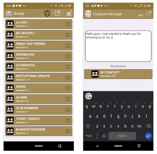 تطبيق Group Messaging