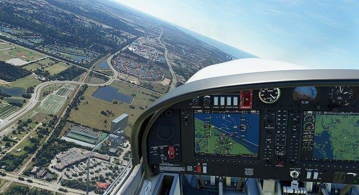 محاكاة لقيادة الطيران