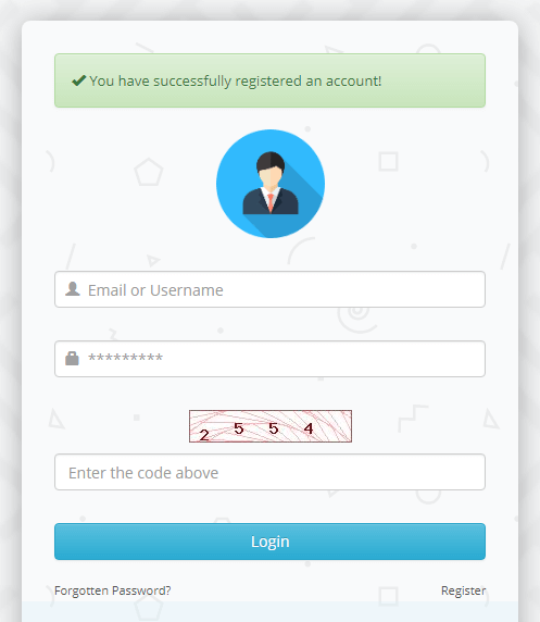 تسجيل الدخول في الموقع