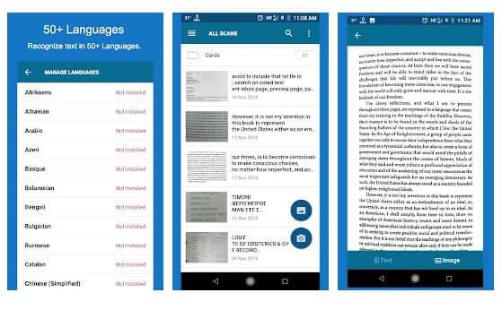 تطبيق OCR Text Scanner