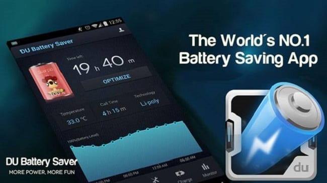 تطبيق DU Battery Saver & Fast Charge تطبيقات يجب أن تسارع لحذفها من هاتفك