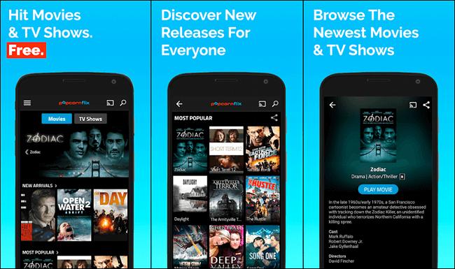 تطبيق Popcornflix تطبيقات مشاهدة الأفلام والمسلسلات العالمية بطريقة قانونية