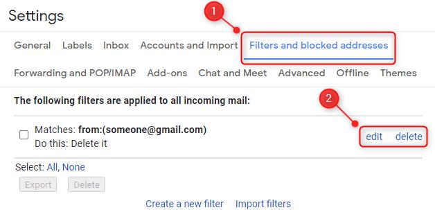 حظر رسائل البريد الإلكتروني من مرسلين معينين في Gmail 1