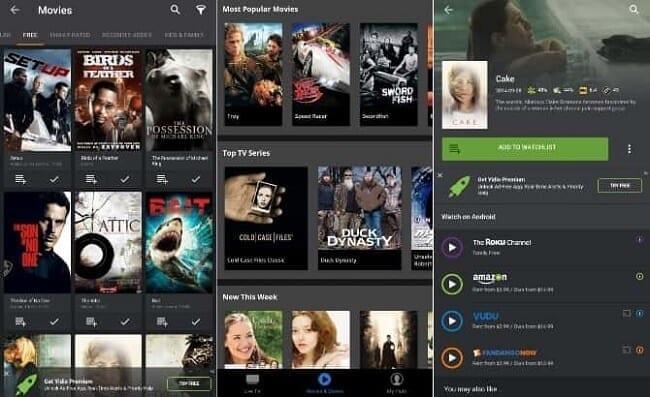 تطبيق Yidio تطبيقات مشاهدة الأفلام والمسلسلات العالمية بطريقة قانونية