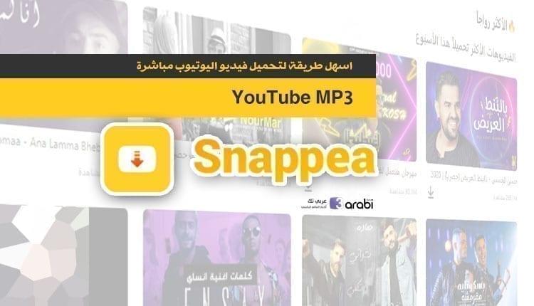 اسهل طريقة لتحميل فيديو اليوتيوب مباشرة او تحويلة الى Mp3 مع خدمة Snappea اونلاين