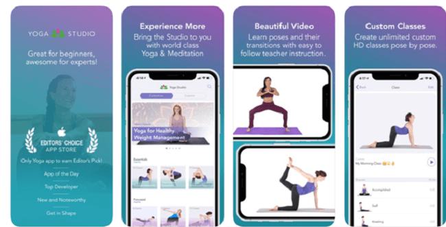 تطبيق Yoga Studio تطبيقات لممارسة رياضة اليوجا من المنزل