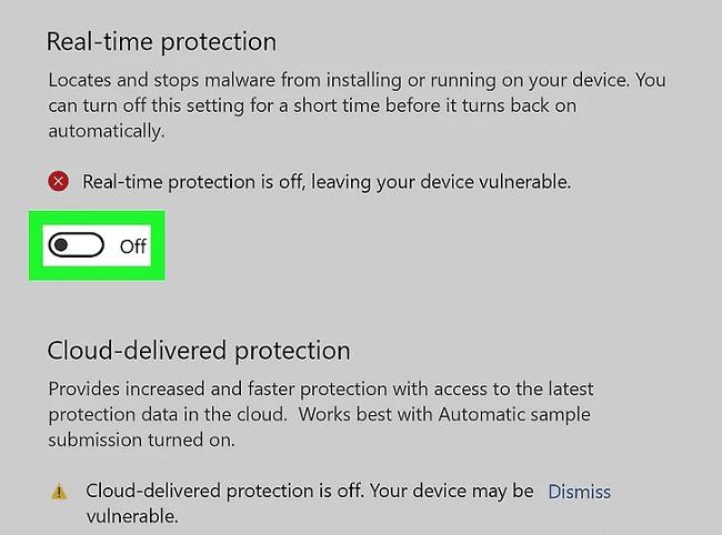 تفعيل أداة مكافحة الفيروسات الأساسية في ويندوز 10