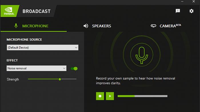 تطبيق NVIDIA Broadcast