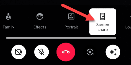 مشاركة شاشة هاتفك عبر تطبيق Google Duo 1