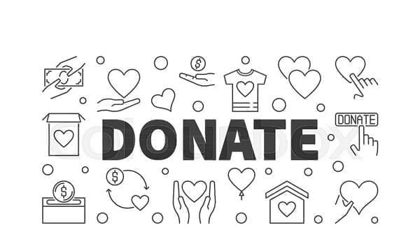 خيار التبرع في الموقع
