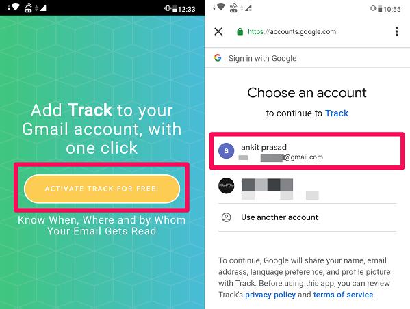 تطبيق Track-Email Tracking 1