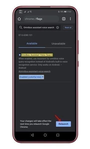 تفعيل مساعد جوجل الصوتي في متصفح جوجل كروم 1
