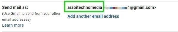 تغيير اسمك في حساب Gmail 1