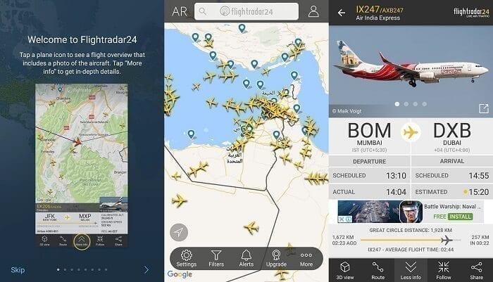 تطبيق Flightradar24 1