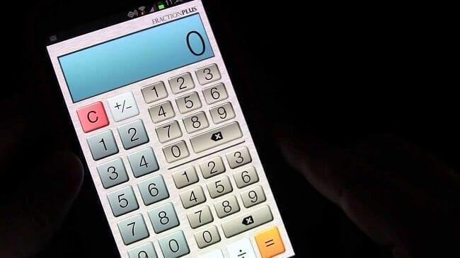 تطبيق Fraction Calculator تطبيقات الآلة الحاسبة العلمية
