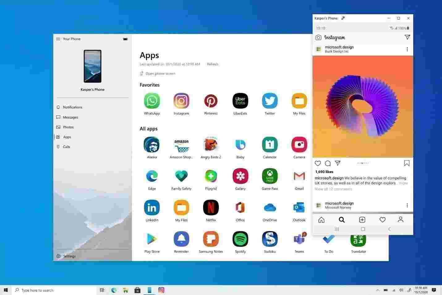 تشغيل تطبيقات الأندرويد على ويندوز 10 بدون برامج