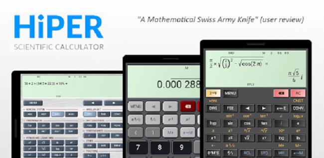 تطبيق HiPER Scientific Calculator تطبيقات الآلة الحاسبة العلمية