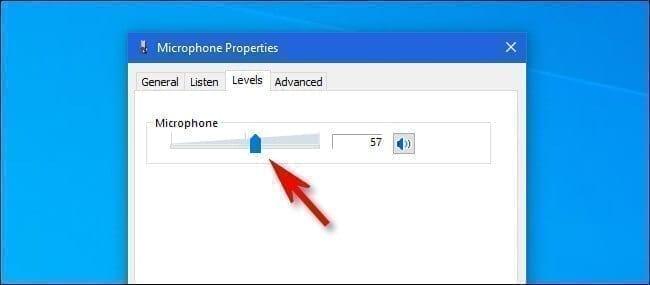 تغيير درجة صوت الميكروفون في ويندوز 10 1