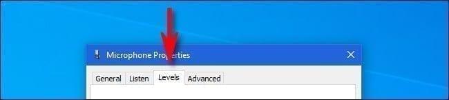 تغيير درجة صوت الميكروفون في ويندوز 10