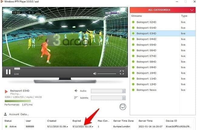 خدعة ذكية لاستخراج سيرفر IPTV مدفوع لفترة طويلة من أي تطبيق بث مباشر 3