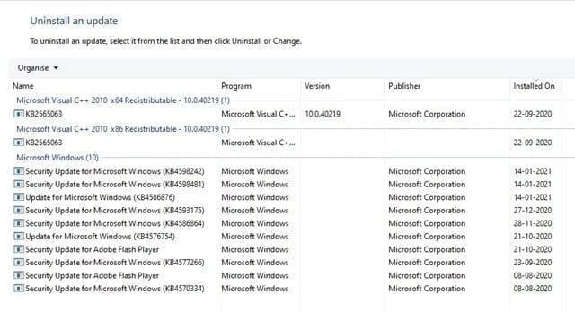 معرفة كافة التحديثات التي تم إجراءها في ويندوز 10 2