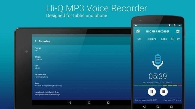 تطبيق Hi-Q MP3 Voice Recorder