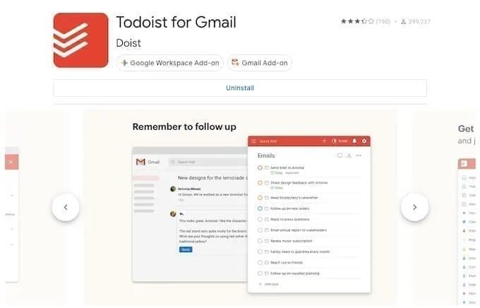 إضافة todoist for gmail