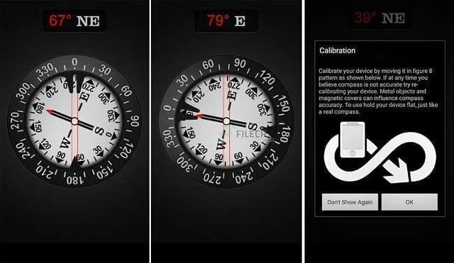تطبيق compass by gamma Play تطبيقات البوصلة