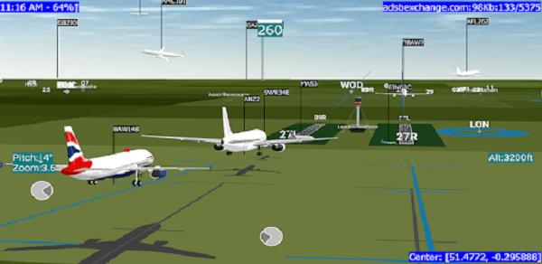 تطبيق ADSB Flight Tracker