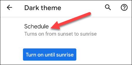 تفعيل الوضع المظلم تلقائيًا بمجرد غروب الشمس في هاتف الأندرويد