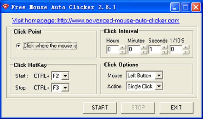 برنامج Free Mouse Auto Clicker
