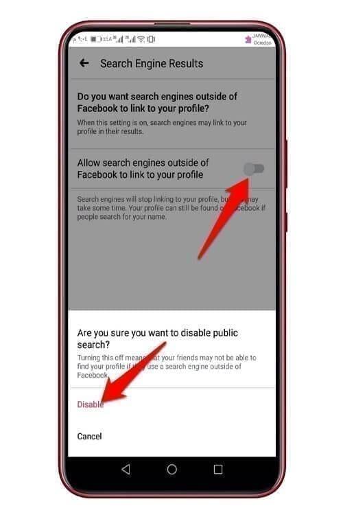 الوصول إلى حسابك في موقع فيس بوك عبر محركات البحث 1