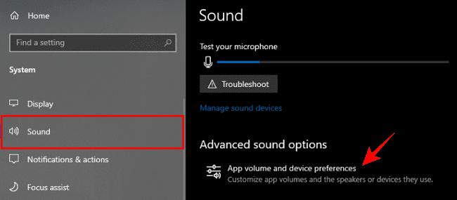 التحكم في مستوى الصوت لكل تطبيق من تطبيقات الحاسوب 2