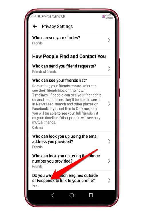 الوصول إلى حسابك في موقع فيس بوك عبر محركات البحث
