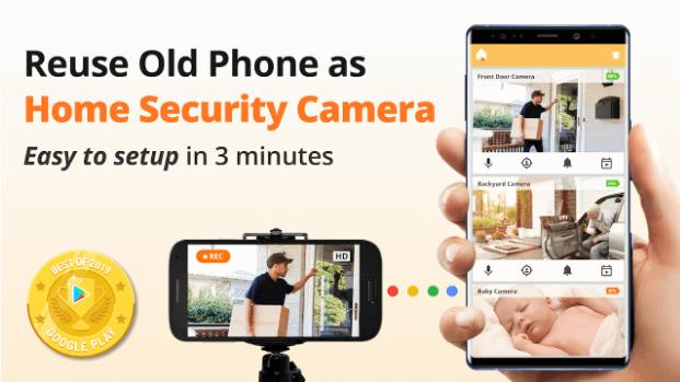 تطبيق Alfred Home Security Camera تطبيقات كاميرات التجسس ومسجلات الفيديو السرية