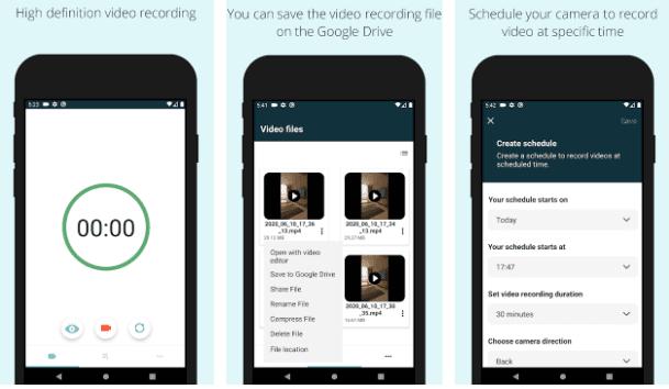 تطبيق Easy Video Recorder تطبيقات كاميرات التجسس ومسجلات الفيديو السرية