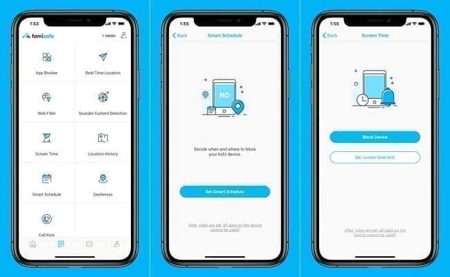 تطبيق FamiSafe تطبيقات لمراقبة الهواتف ومعرفة مواقعها